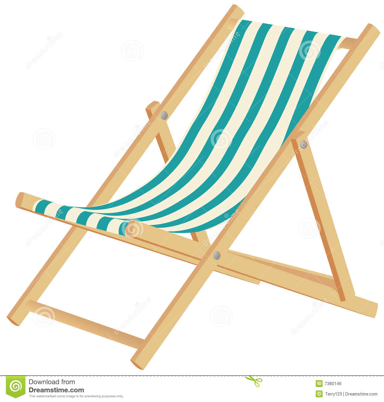 deckchair stock vector illustration of beach recreational 7380146. Black Bedroom Furniture Sets. Home Design Ideas