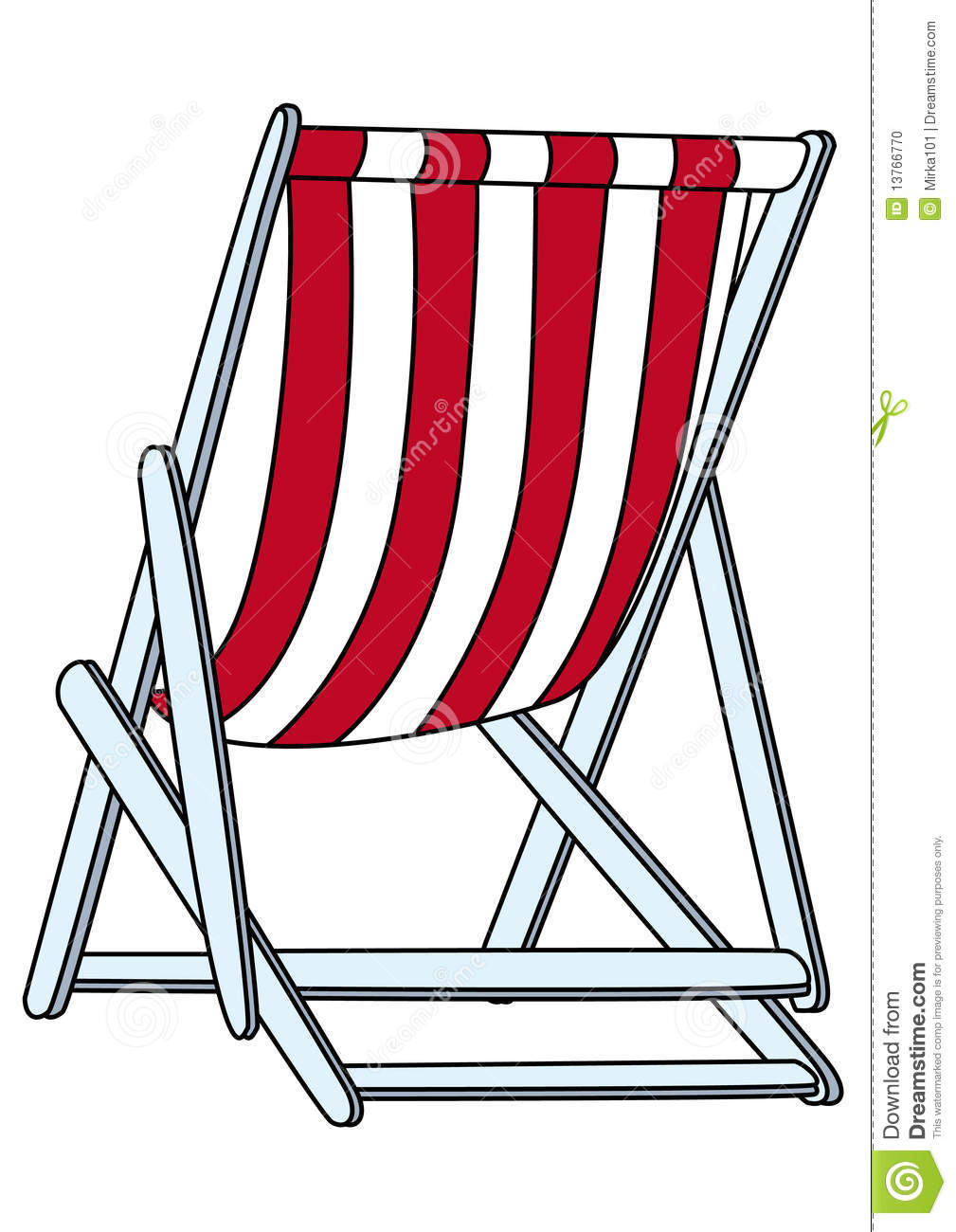 deckchair illustration stock photo image 13766770. Black Bedroom Furniture Sets. Home Design Ideas