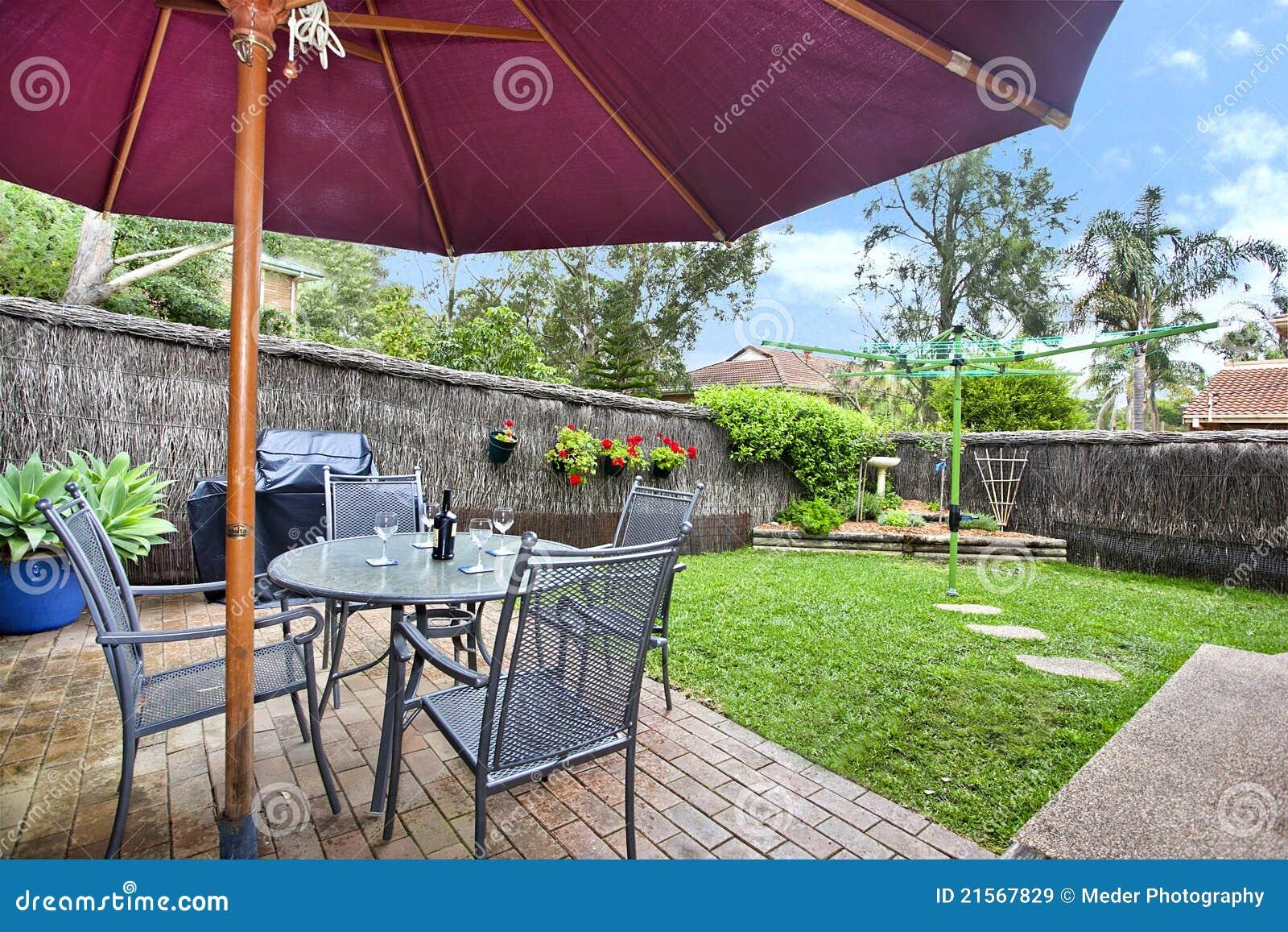 Decking et jardin