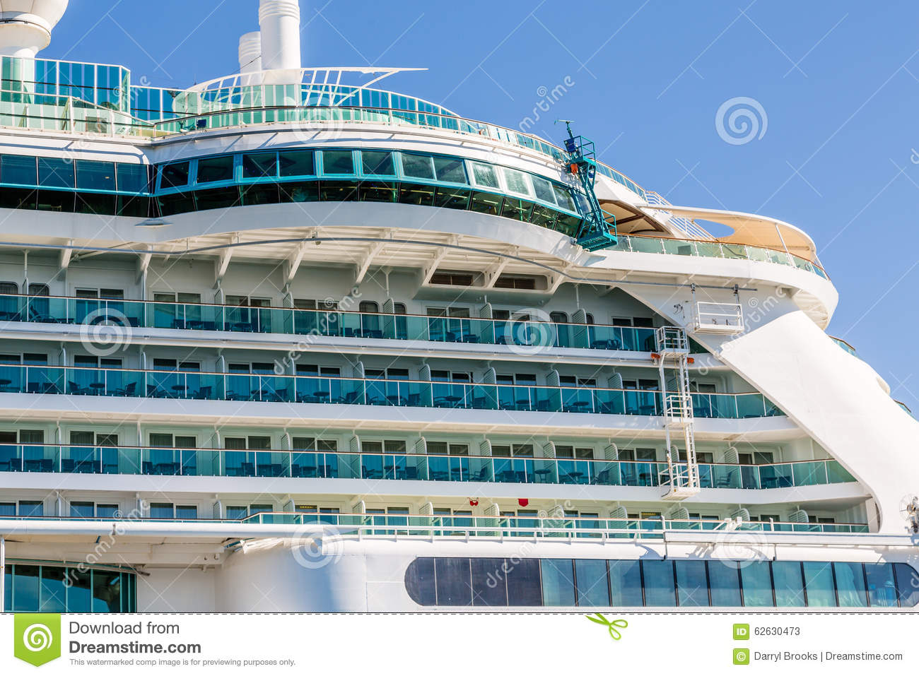 Decks under round window on cruise ship stock photo for Best round the world cruise