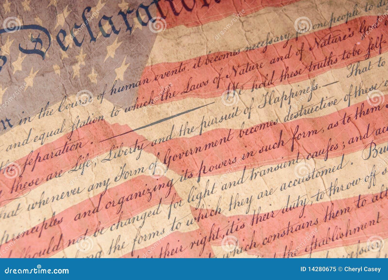 Declaração do fim da independência acima
