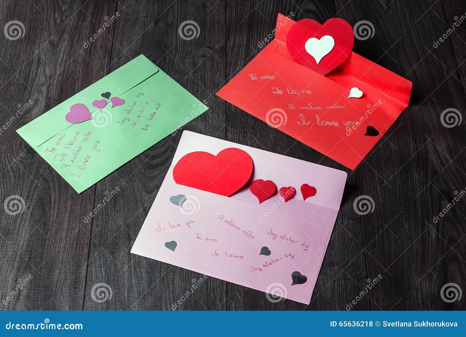 Declarações do amor para o dia de Valentim