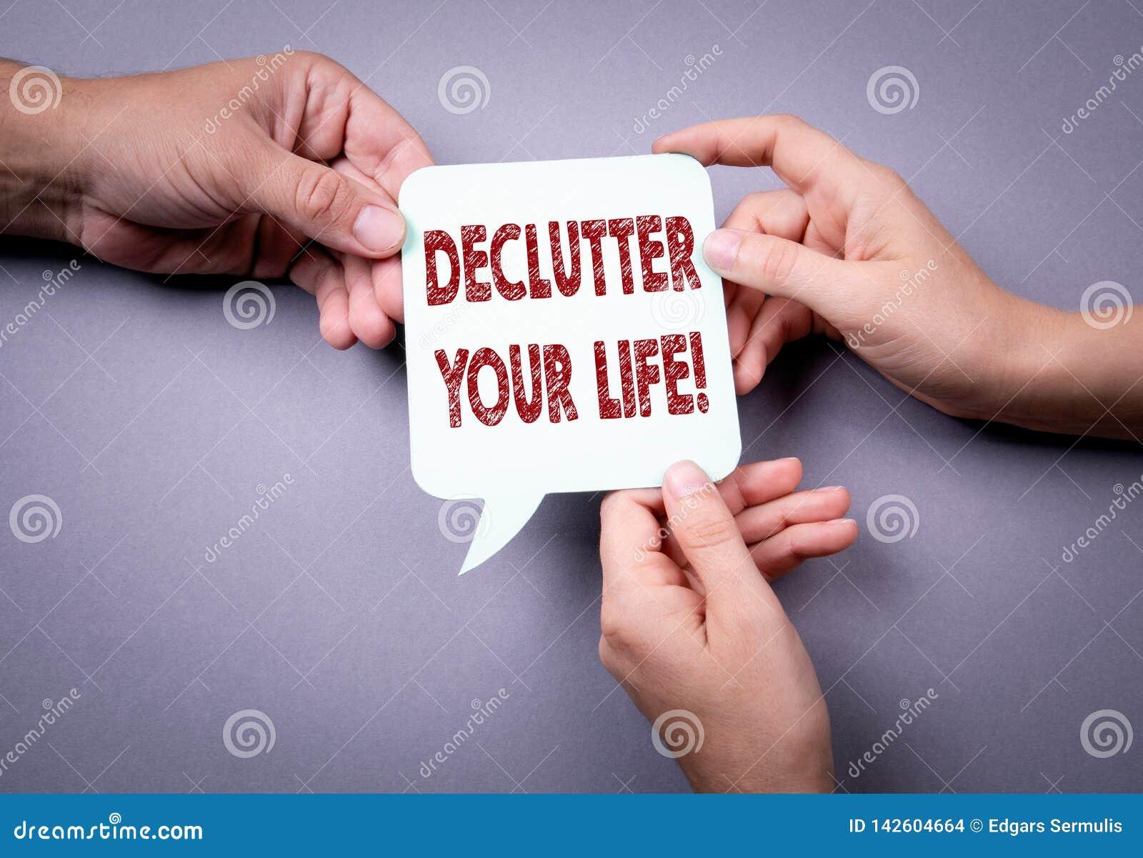 Declutter您的生活 泡影图象人员演讲联系的向量