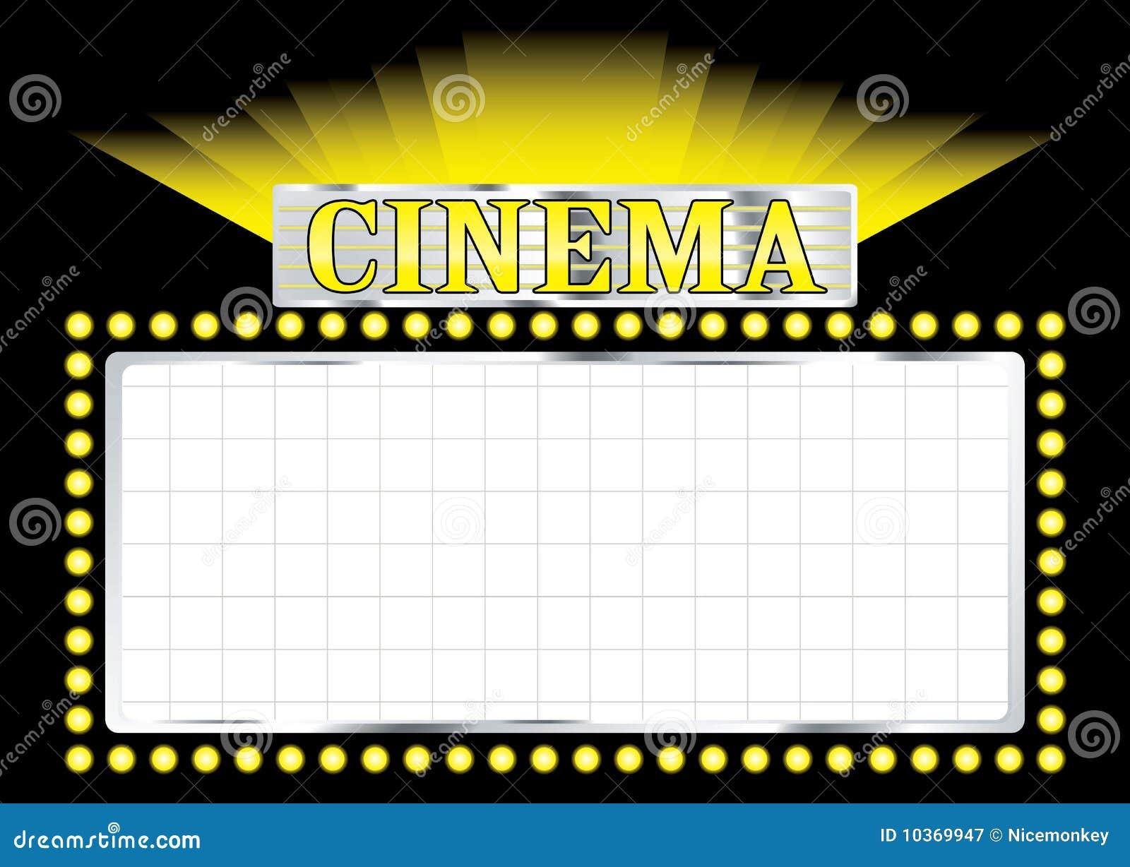 deco cinema stock vector image of neon advertisement 10369947. Black Bedroom Furniture Sets. Home Design Ideas