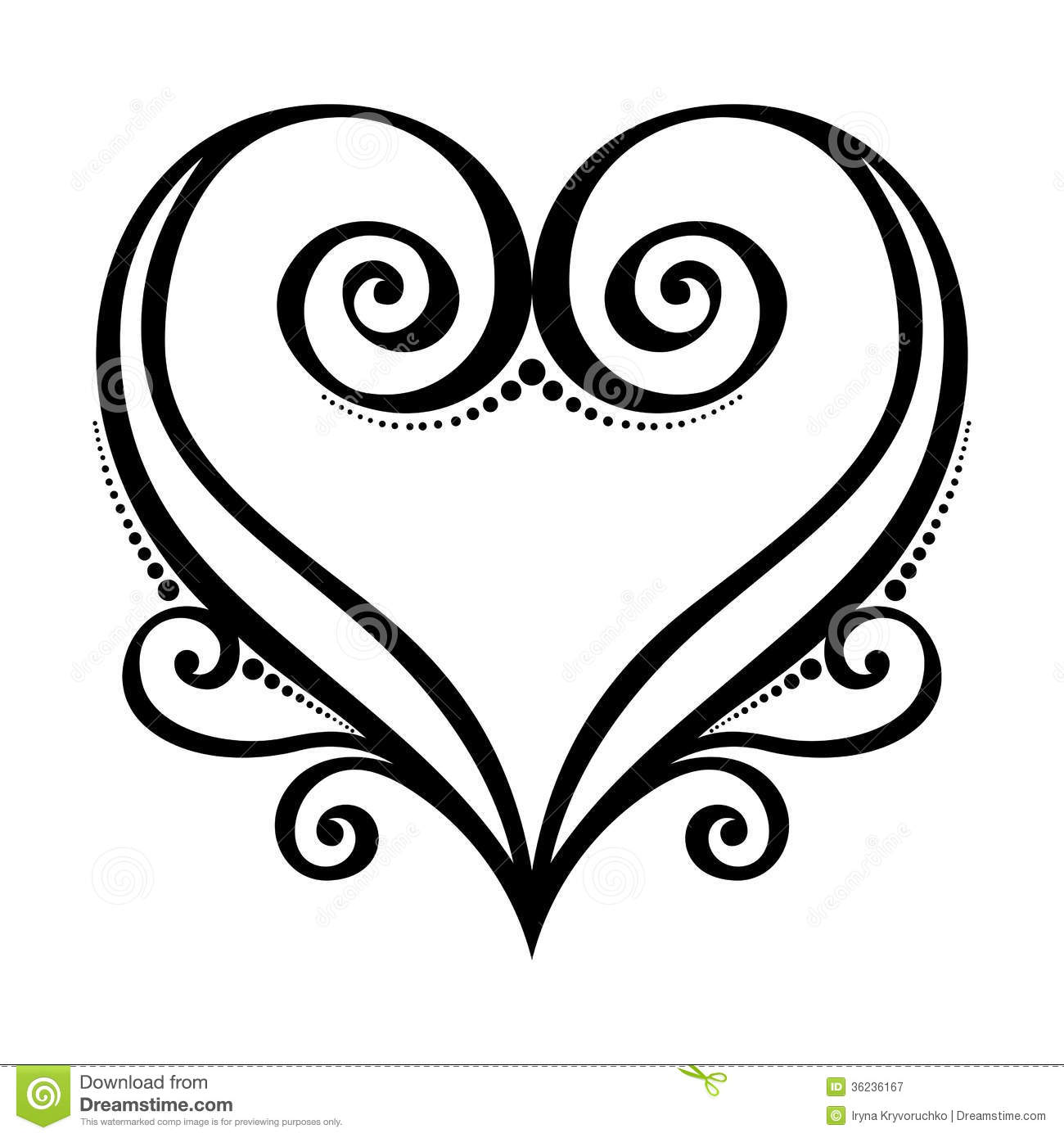 deco heart stock vector  illustration of curl  marriage