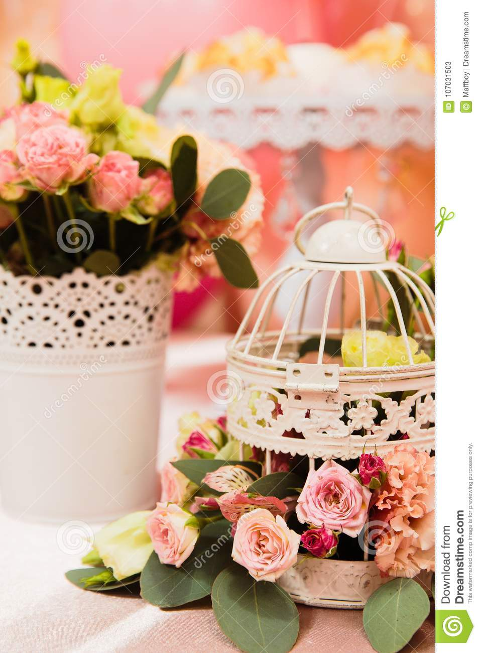 Decor Candy Bar On Girls Stock Image Image Of Trend 107031503