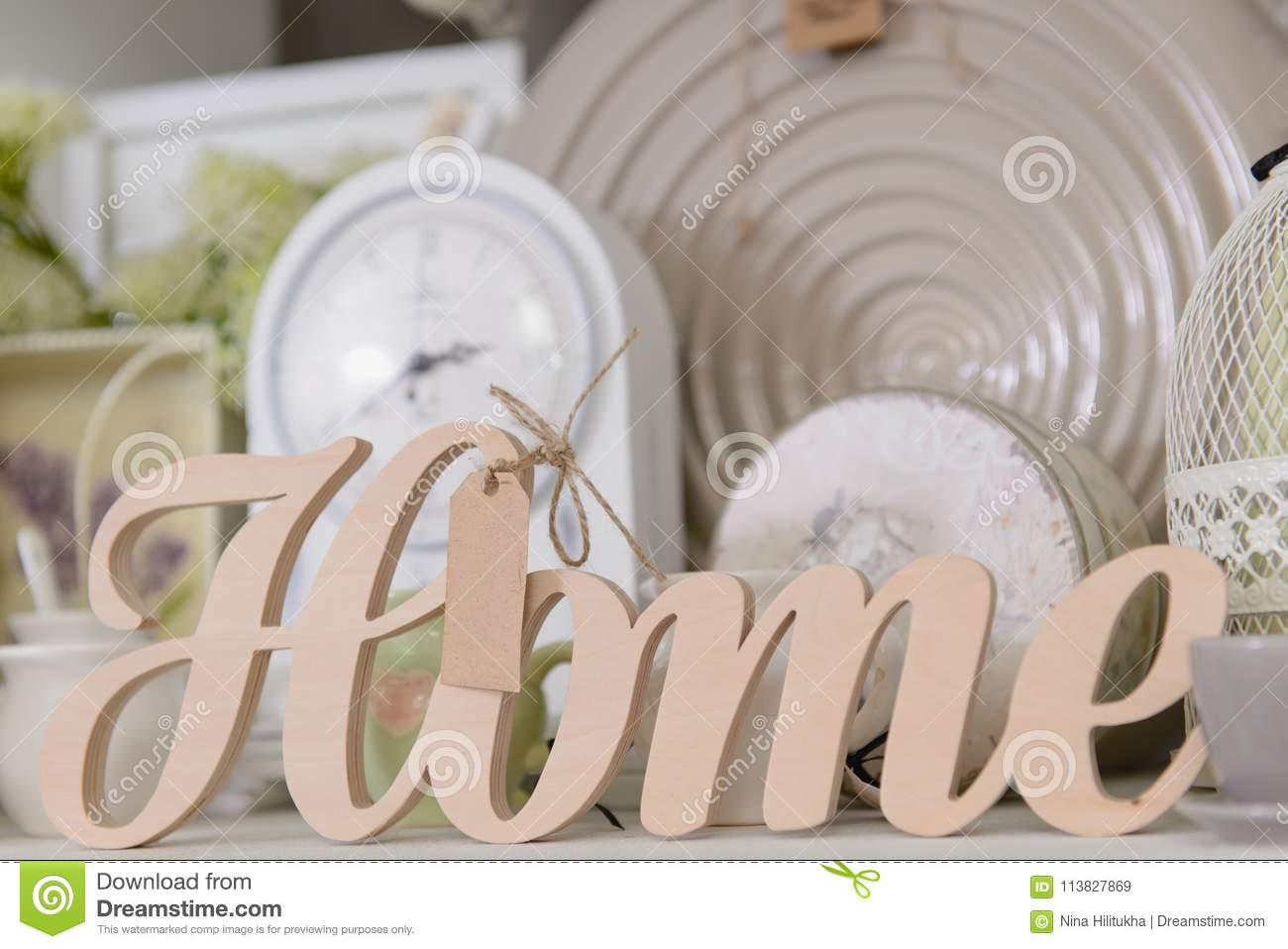 Decor For Home In Pastel Colors Stock Image Image Of Shelf