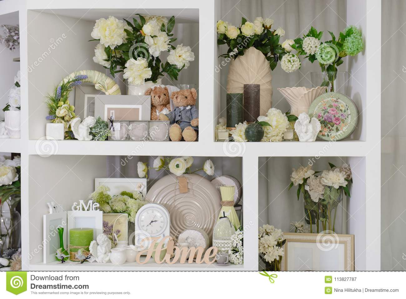 Decor For Home In Pastel Colors Stock Image Image Of Frame