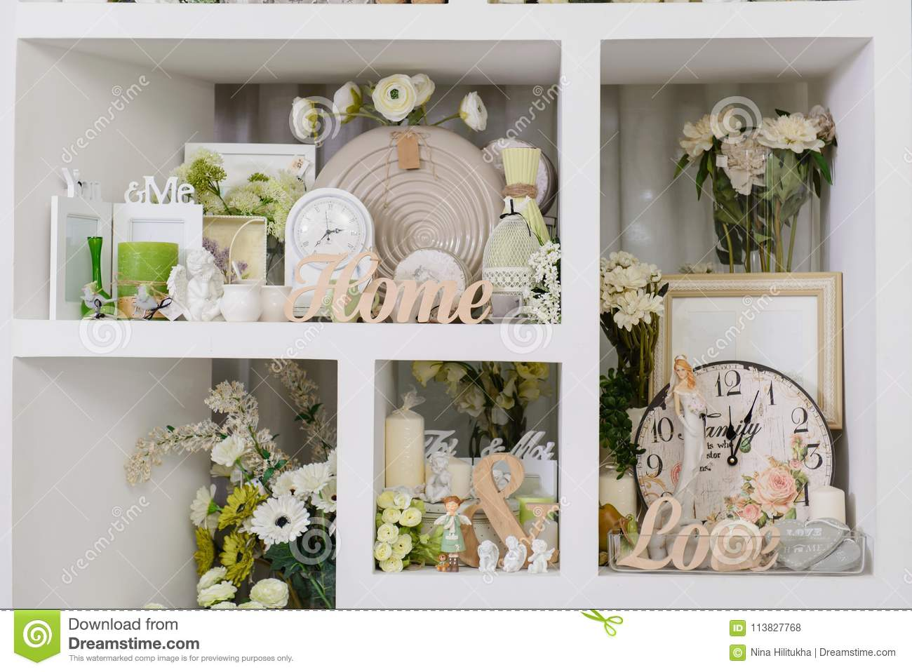 Decor For Home In Pastel Colors Stock Photo Image Of Decoration