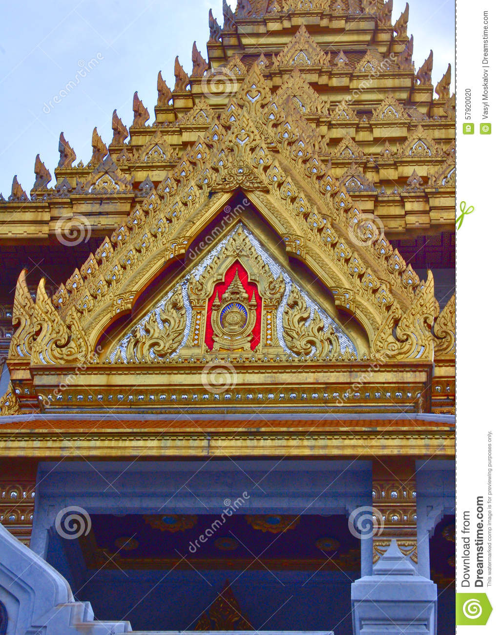 The Decor Items Of Golden Buddha Temple Stock Photo Image Of Near