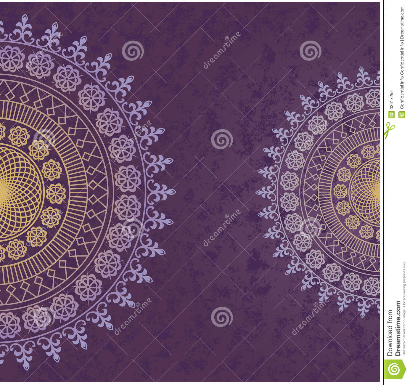 decor lace on purple background old circle lace stock vector