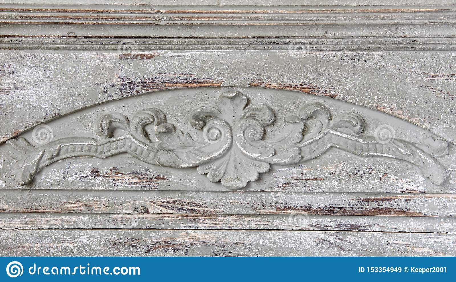 Decor, wood carving of light texture