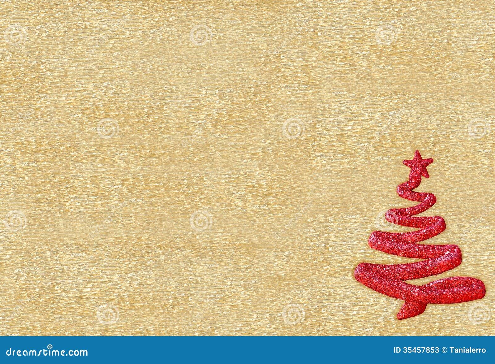 decoracao arvore de natal vermelha: Da árvore De Natal No Fundo Dourado Fotos de Stock – Imagem: 35457853