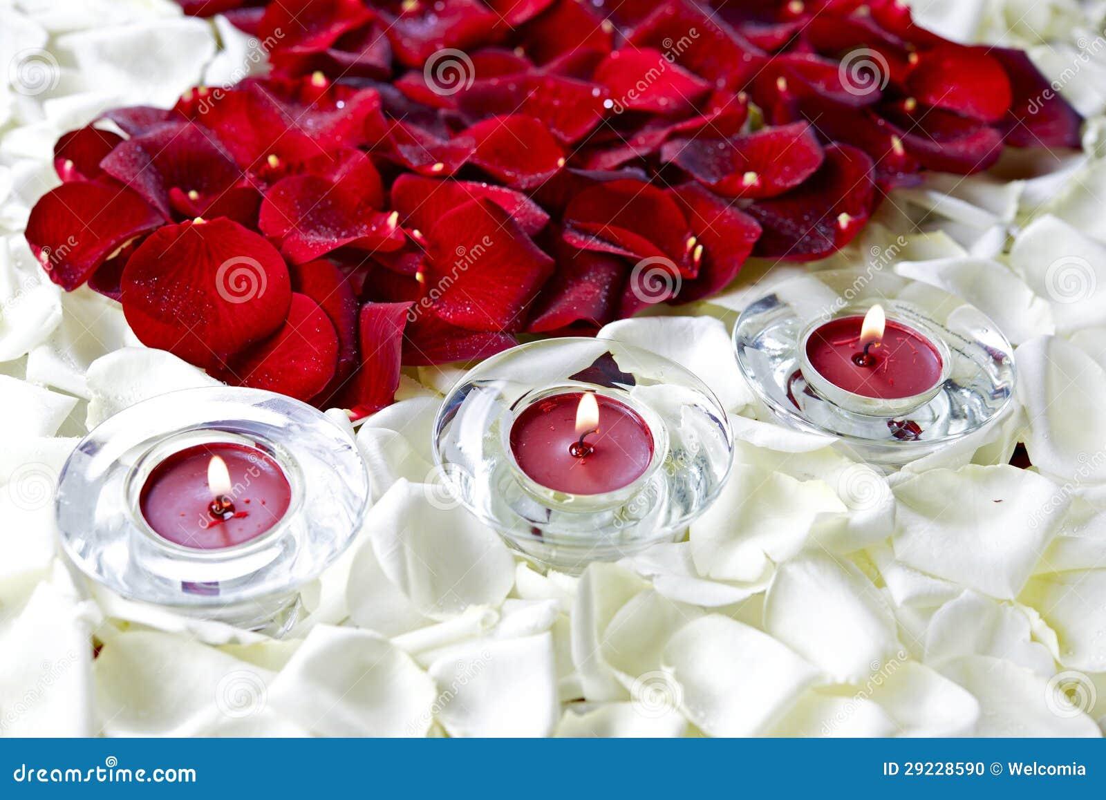 Download Decoração Das Pétalas De Rosa Foto de Stock - Imagem de vermelho, bonito: 29228590