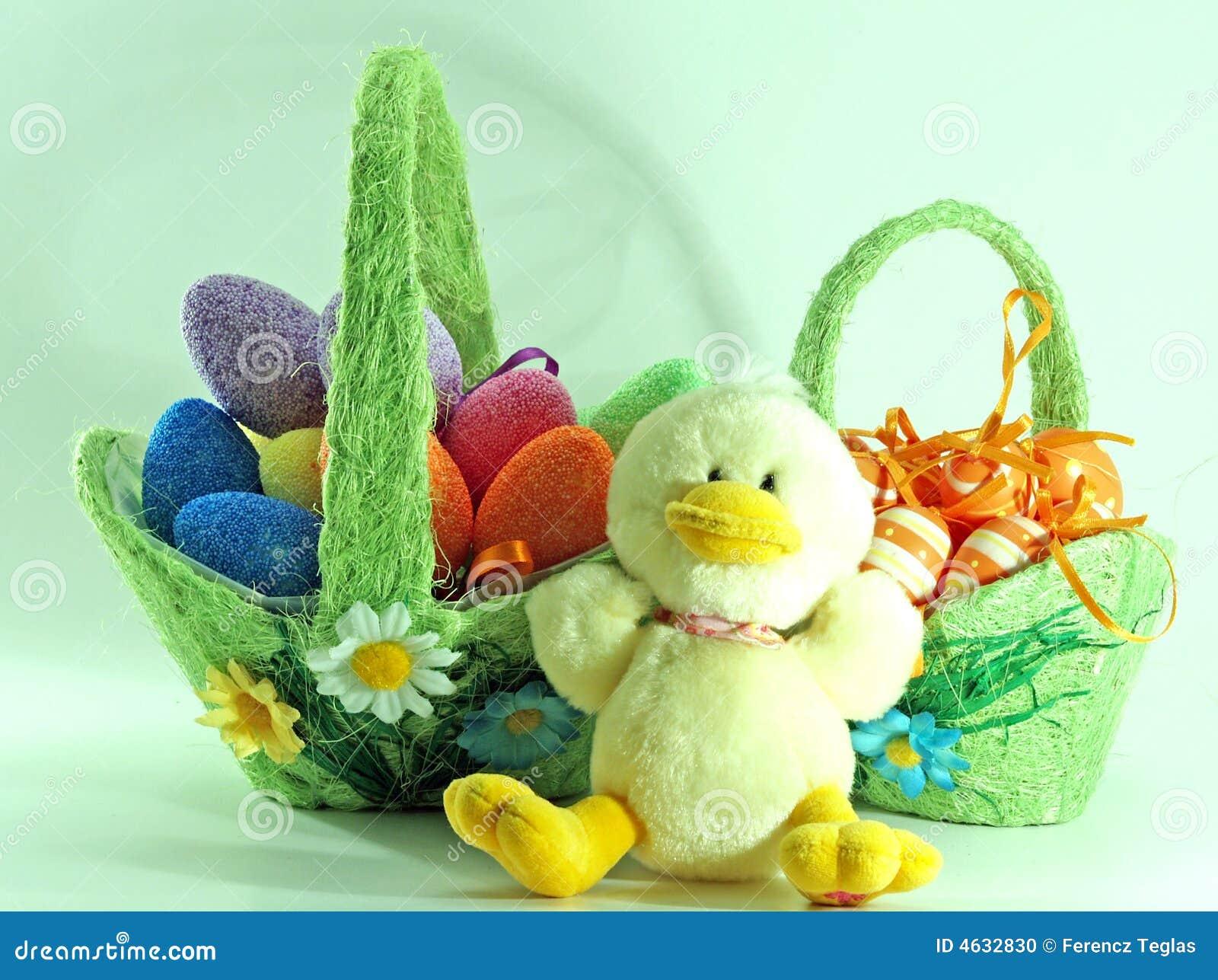 Decoração de Easter com ovos