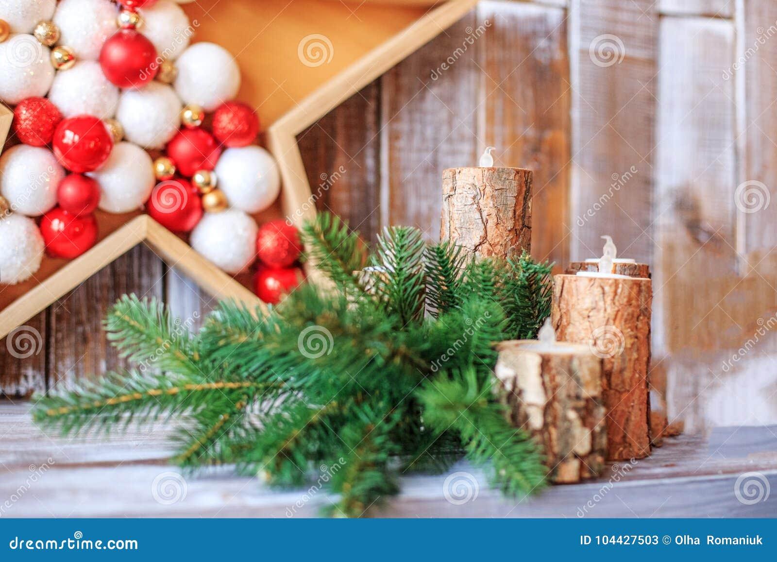 Decoração do Natal Conceito do Natal feliz, ano novo, feriado,