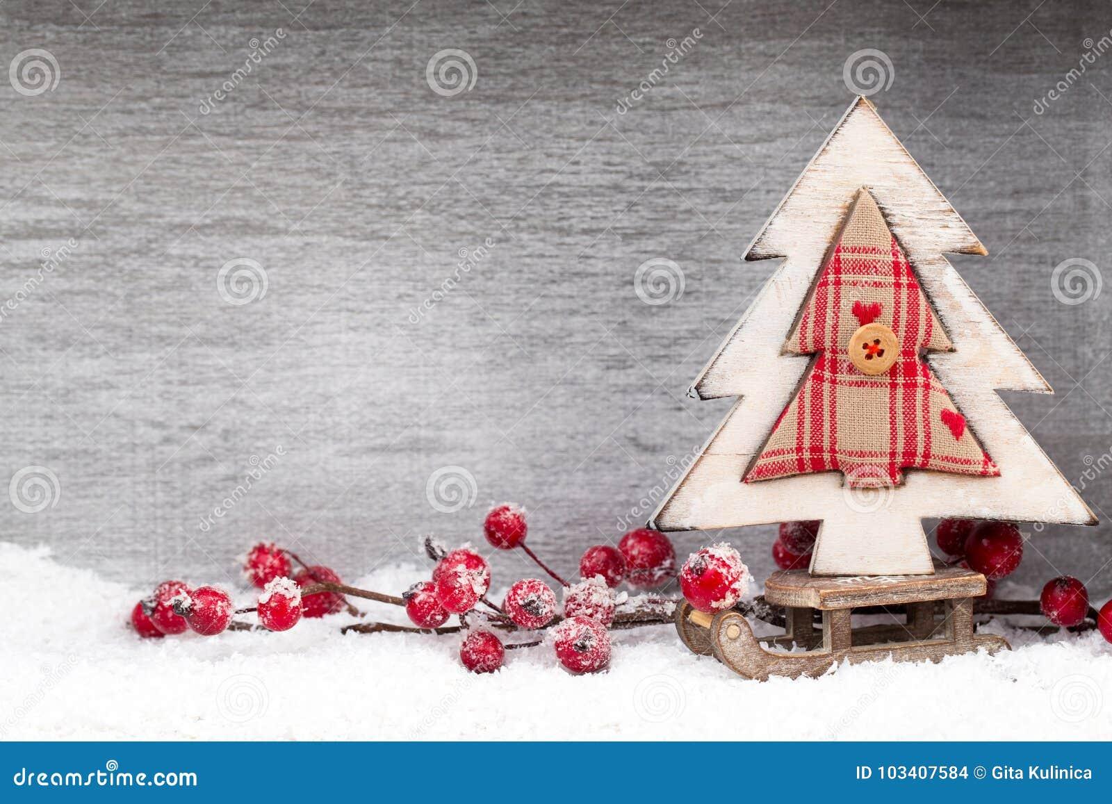 Decoração do Natal Papai Noel em um sledge Xmas do símbolo