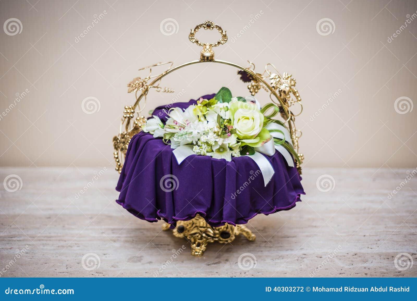 Decoração do presente de casamento