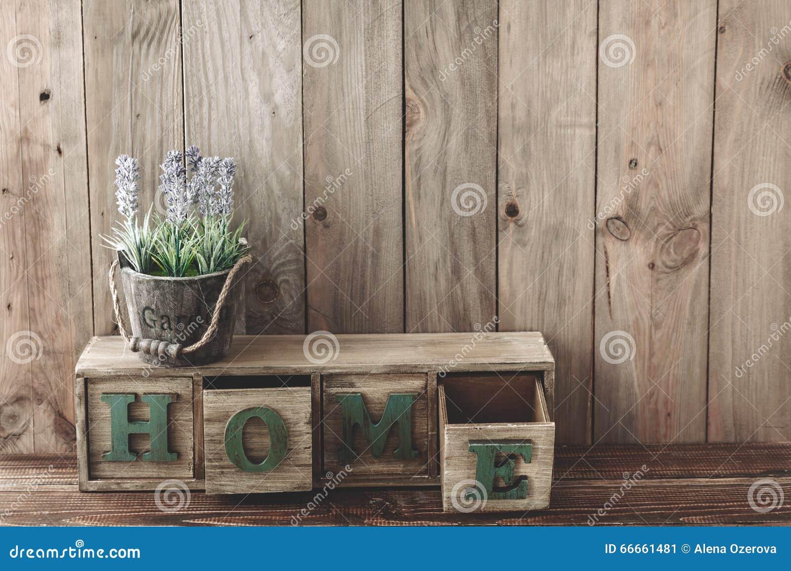 Decoração home de madeira