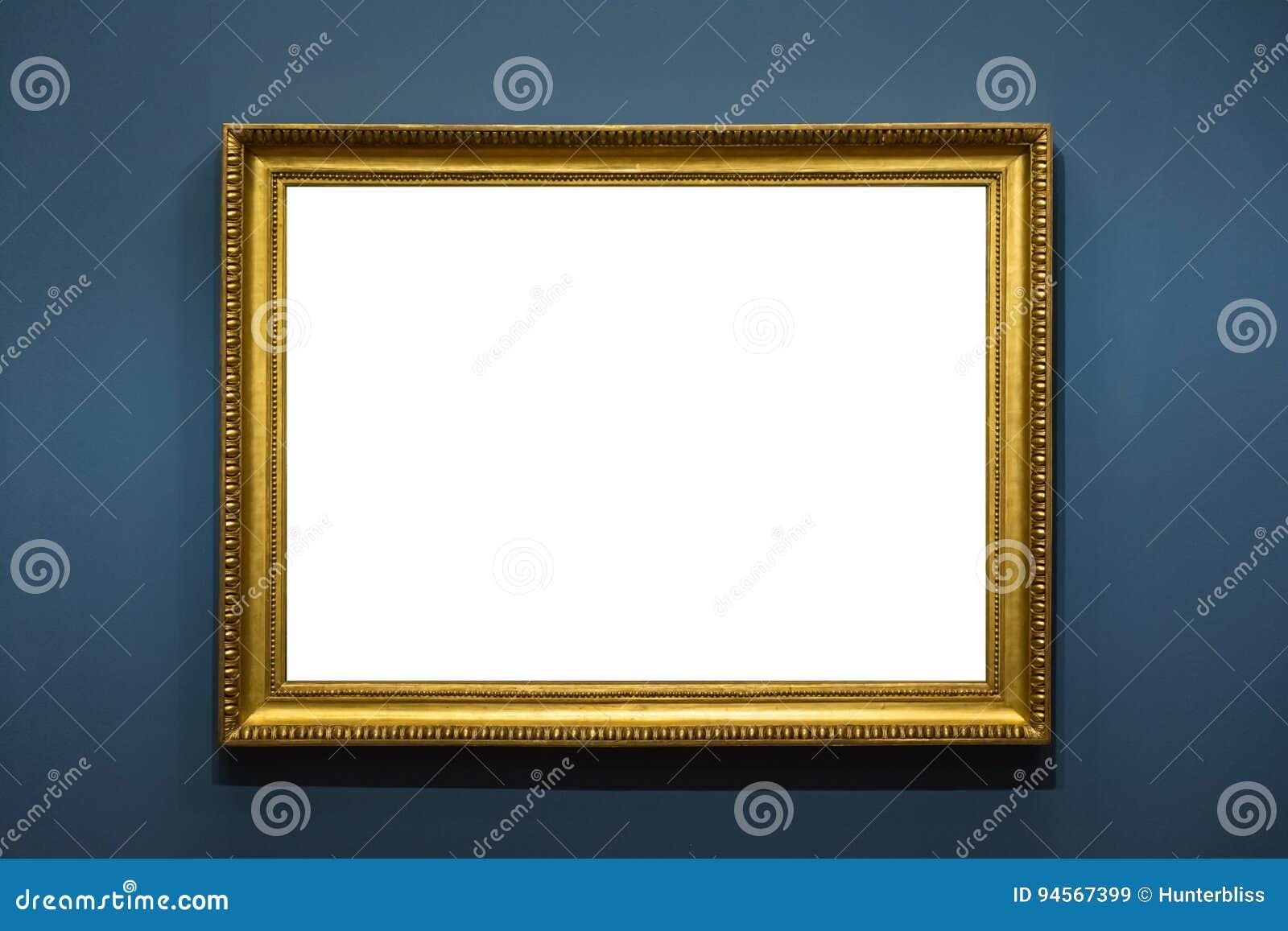 A decoração vazia de Art Museum Isolated Painting Frame dentro mura