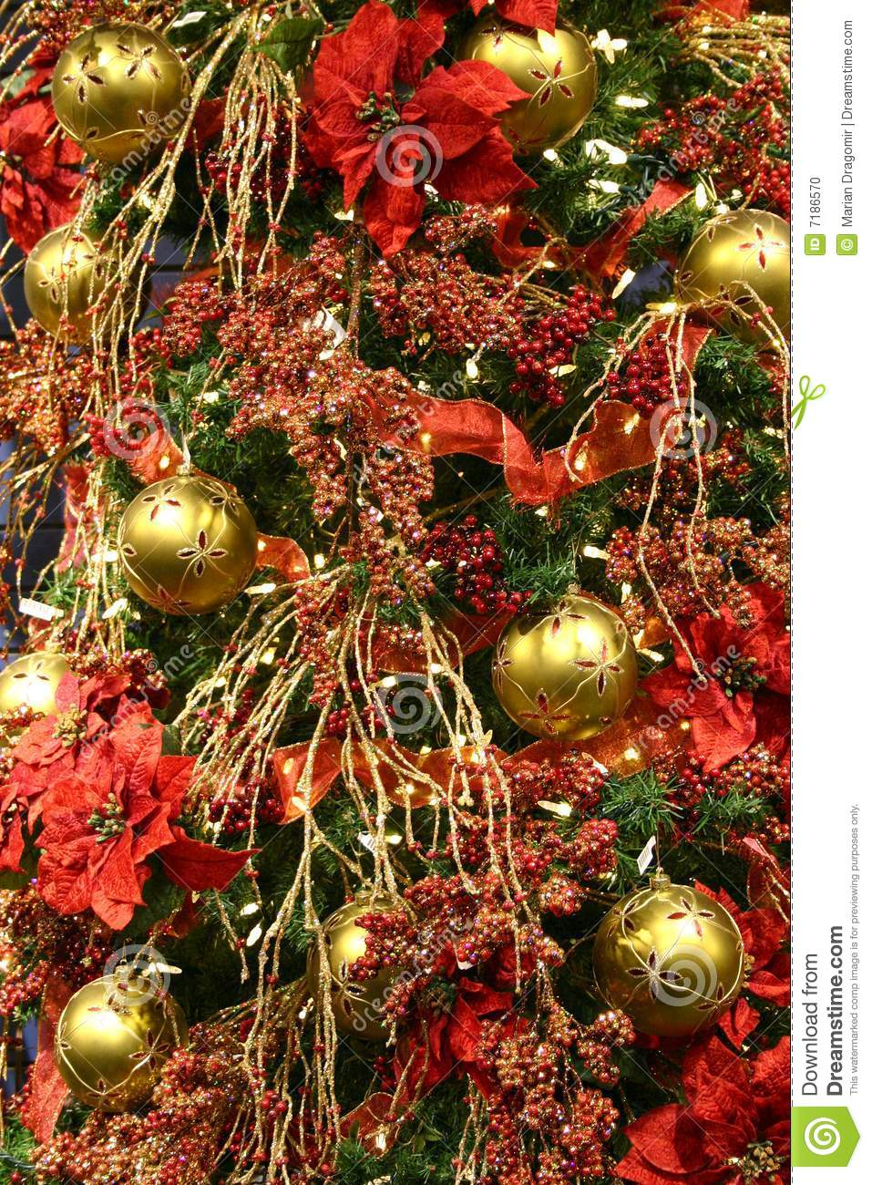 decoracao arvore de natal vermelha:Red Christmas Tree Decoration