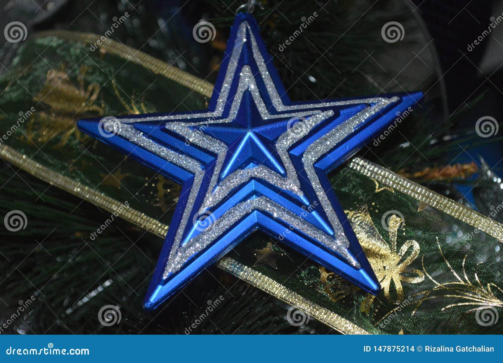 Decorações da estrela do Natal