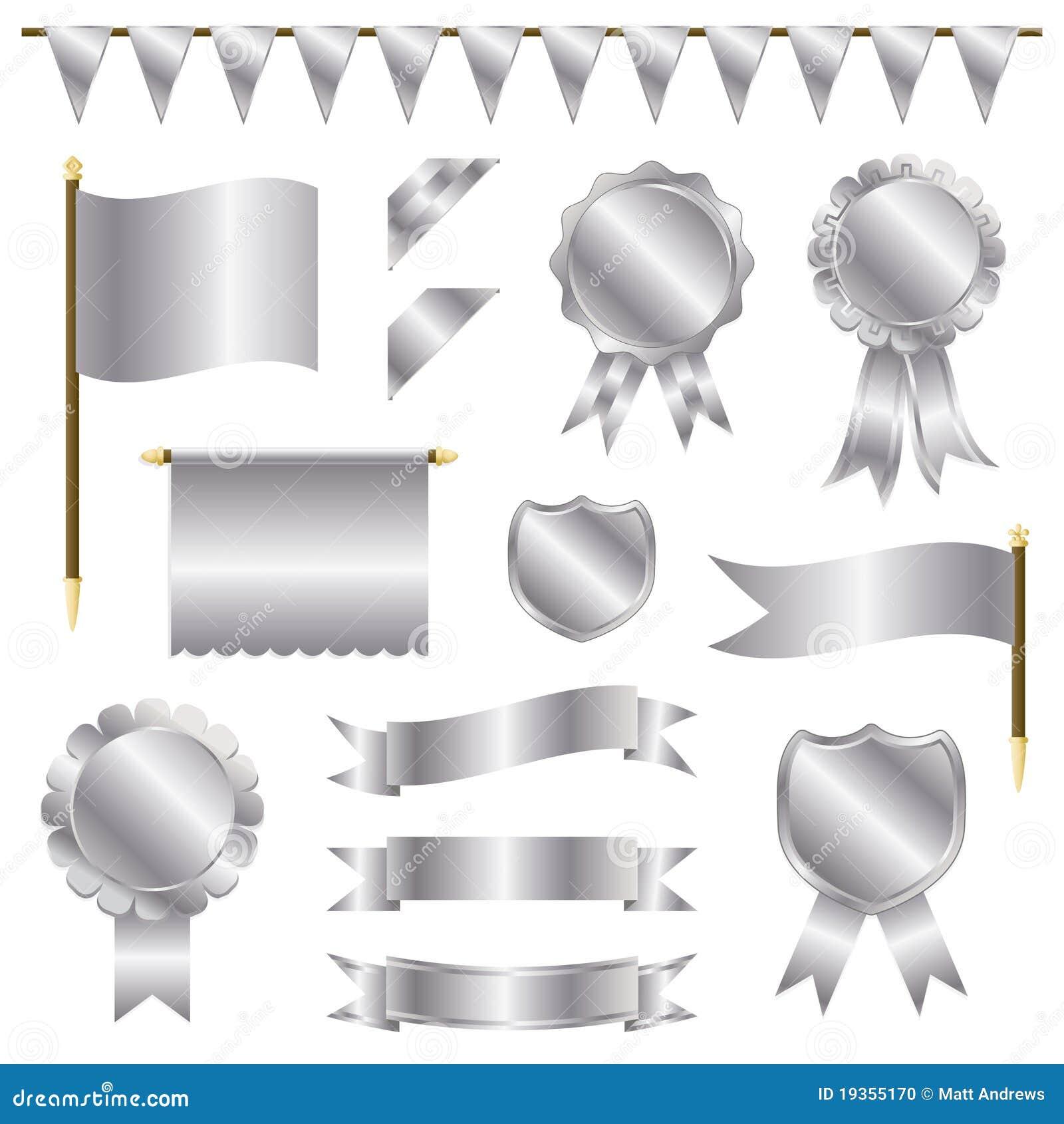 Decorações de prata