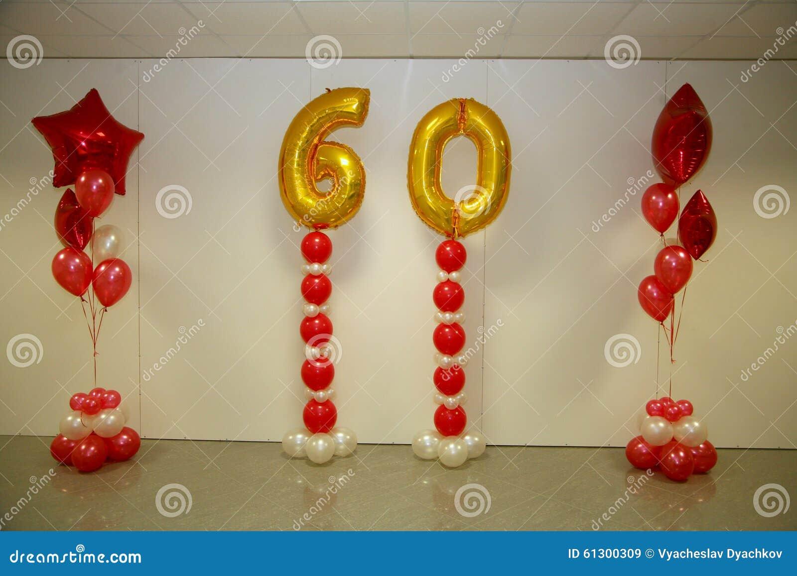 Decorações do feriado da foto da fase, da cortina ou da parede com o número 60 (sessenta)