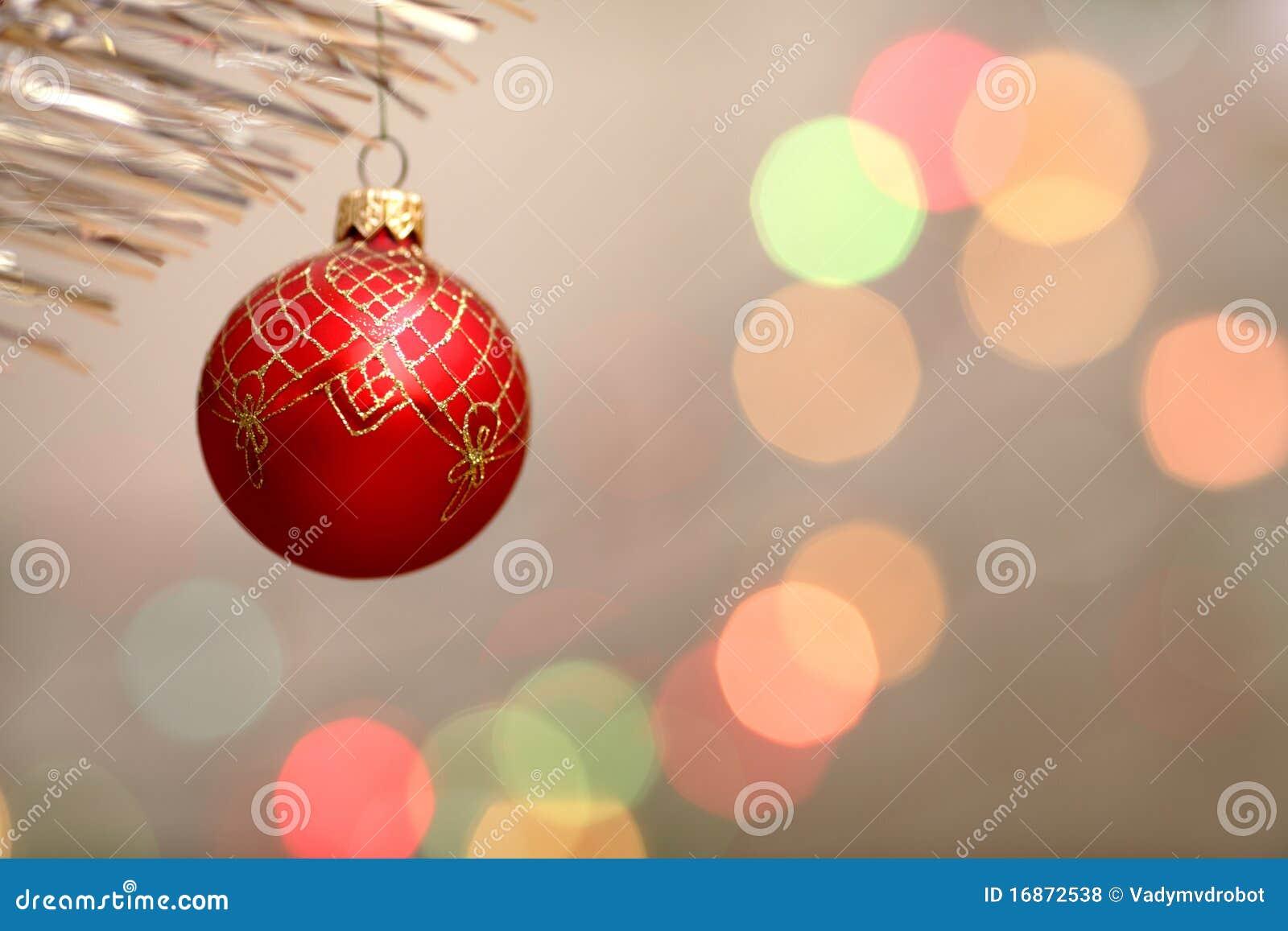 Decorações vermelhas da Natal-árvore