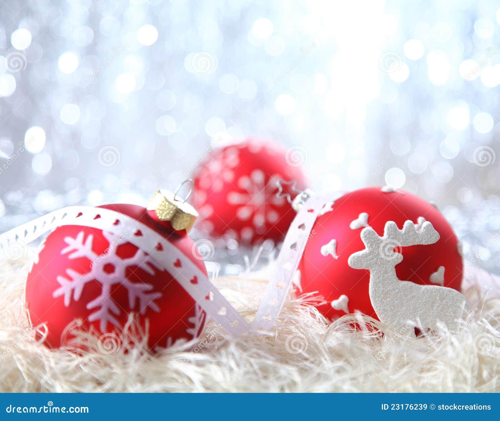 Decorações vermelhas do Natal