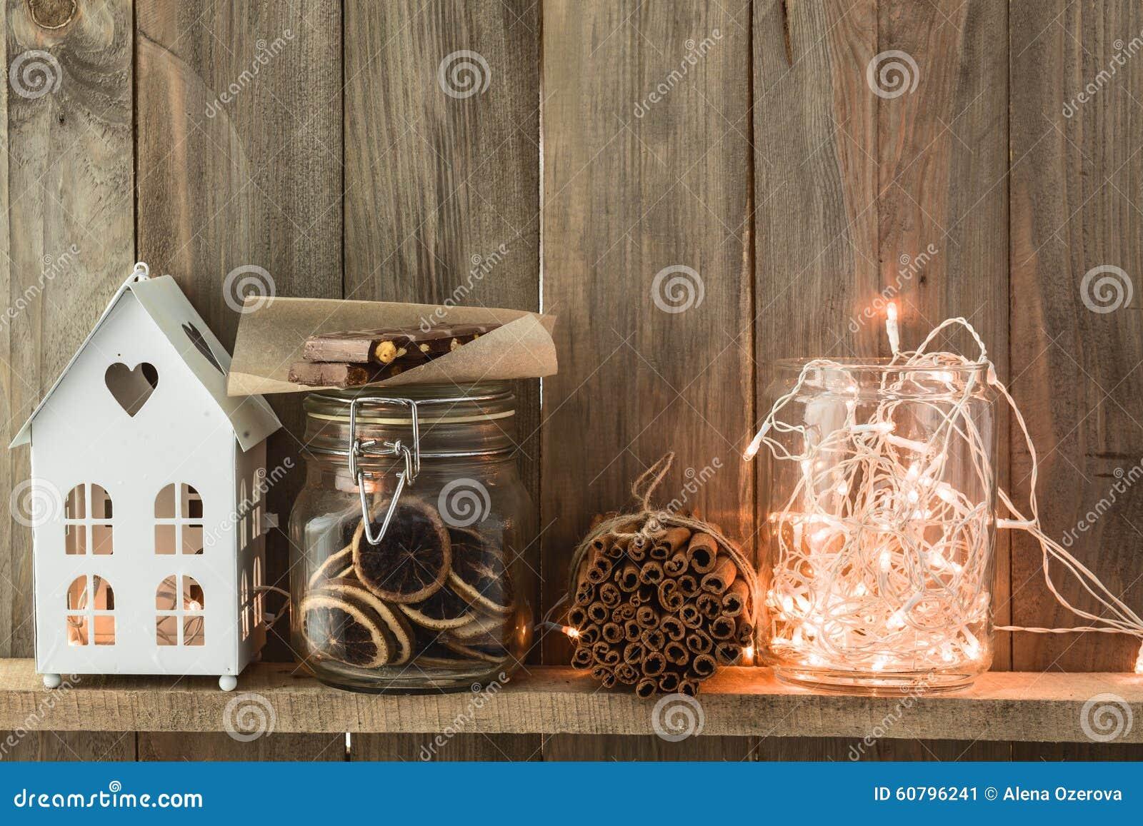 Decoración casera de la Navidad