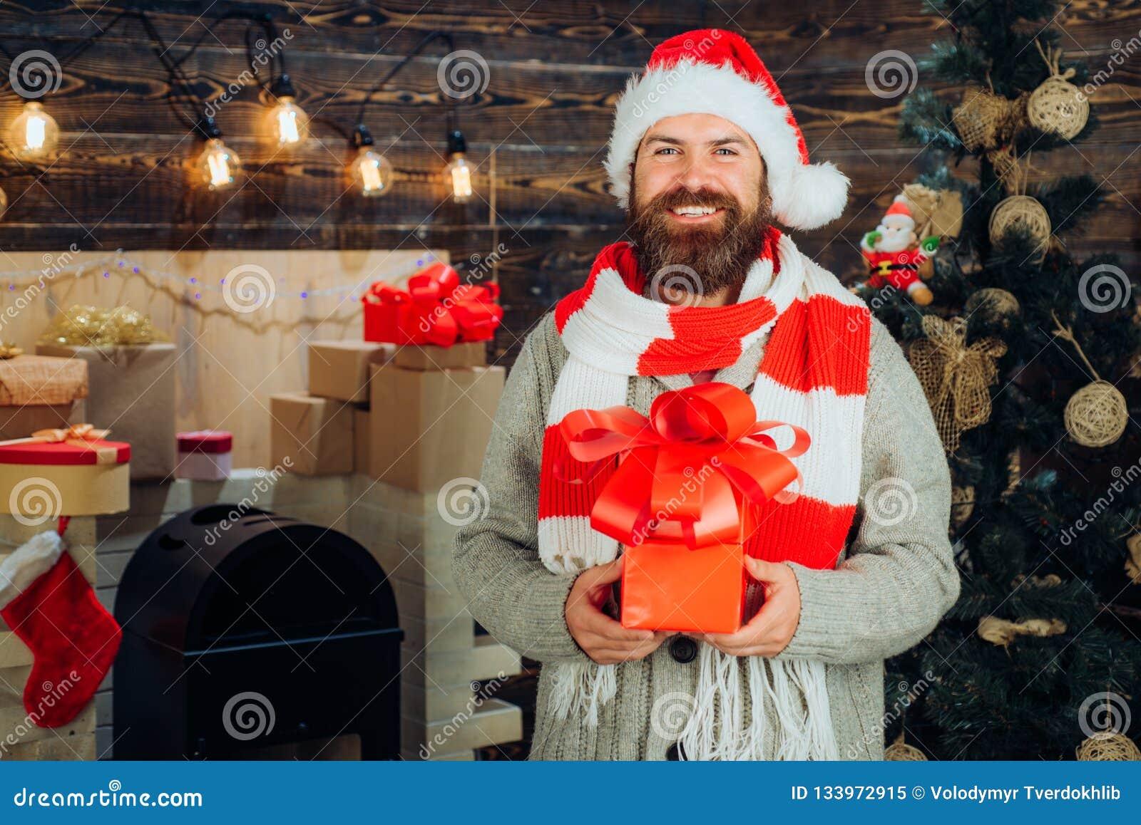 Decoración casera de la Navidad y fondo del Año Nuevo Santa moderno desea Feliz Navidad y Feliz Año Nuevo Papá Noel _2