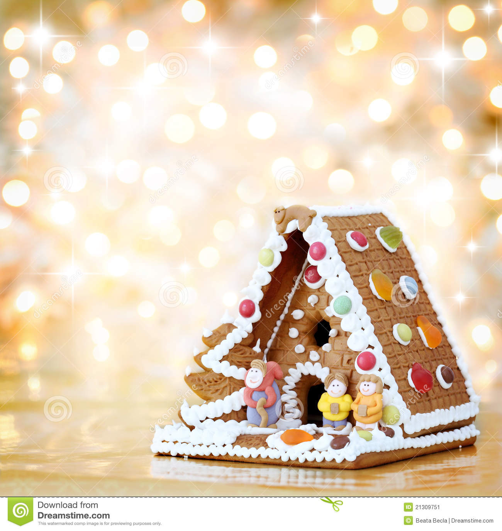 Decoración de la casa de pan de jengibre de la Navidad