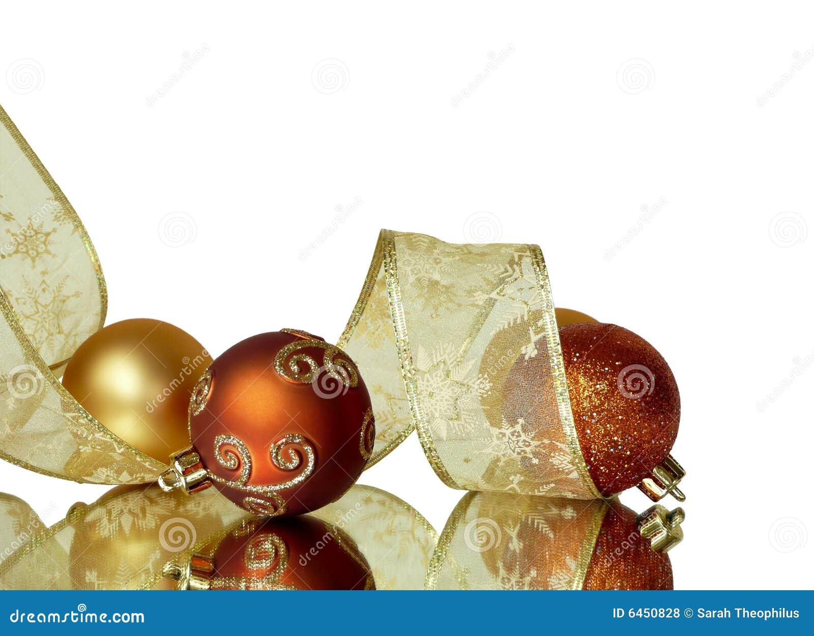 Decoración de la esquina de la cinta de la Navidad