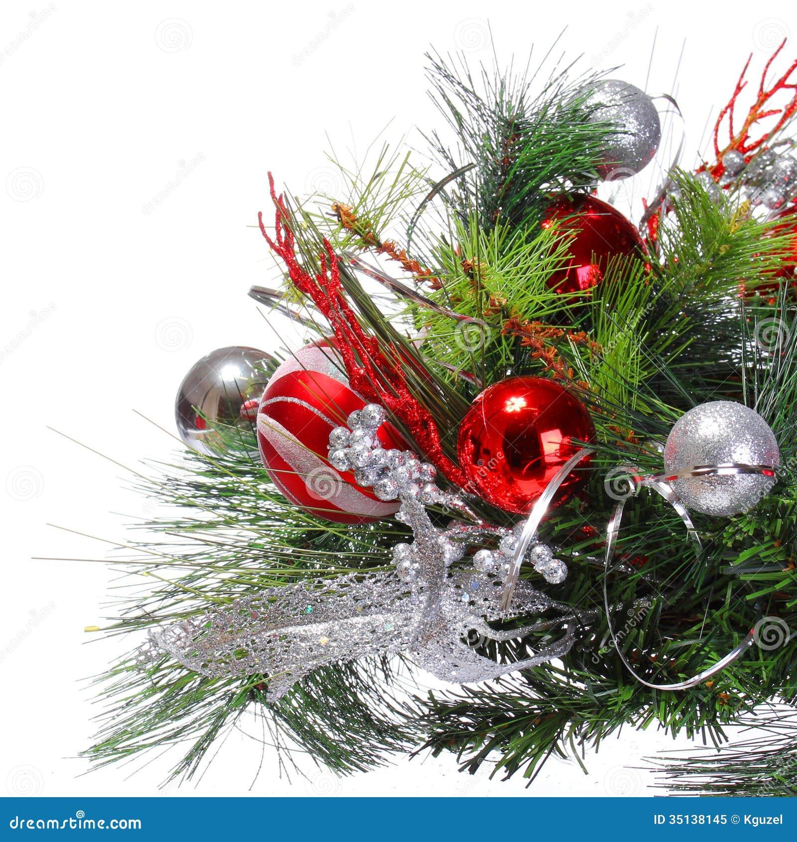 Decoraci n de la navidad bolas rojas en aislante de la for Arbol de navidad con bolas rojas