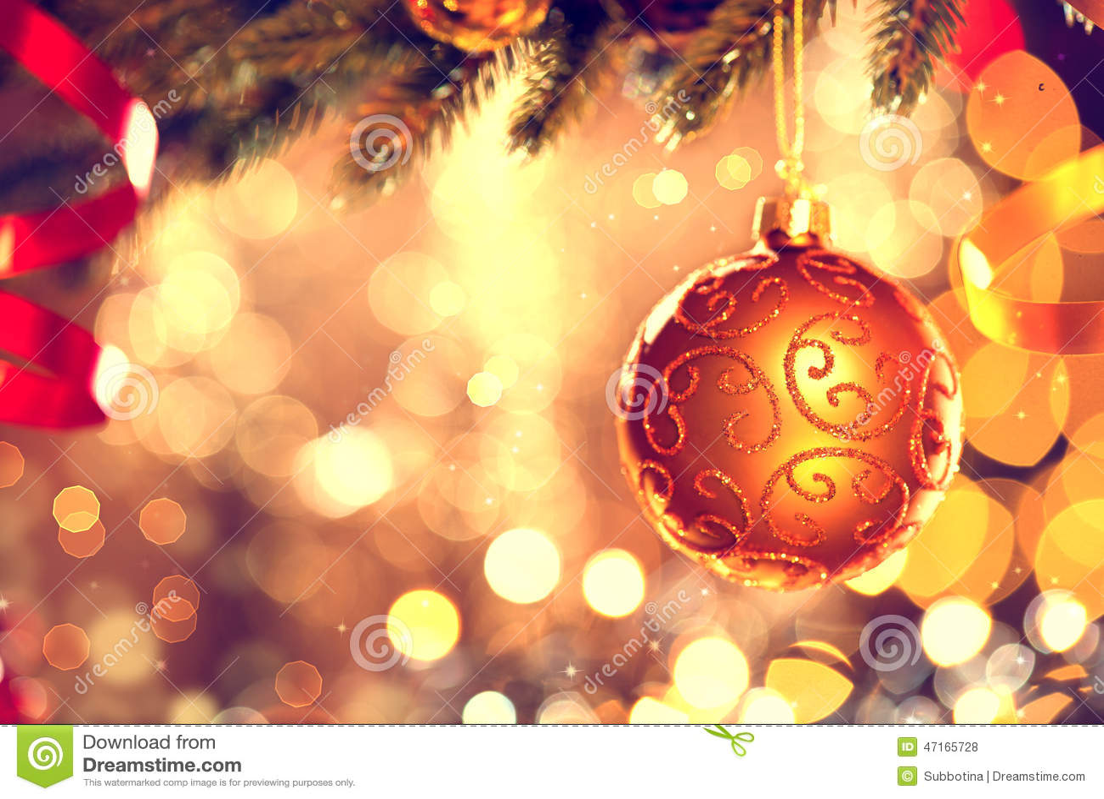 Decoración de la Navidad Chuchería de oro