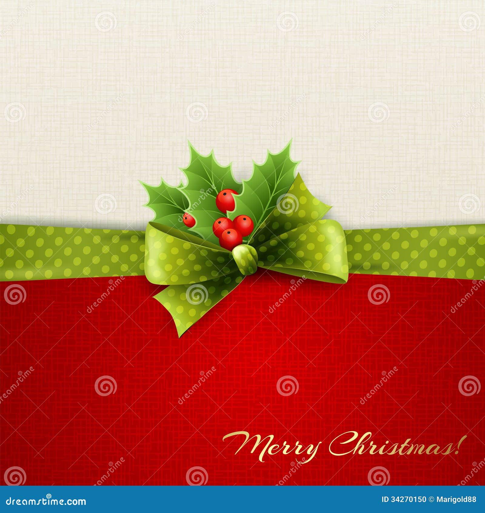 Decoración De La Navidad Con Las Hojas Del Acebo Ilustración del ...