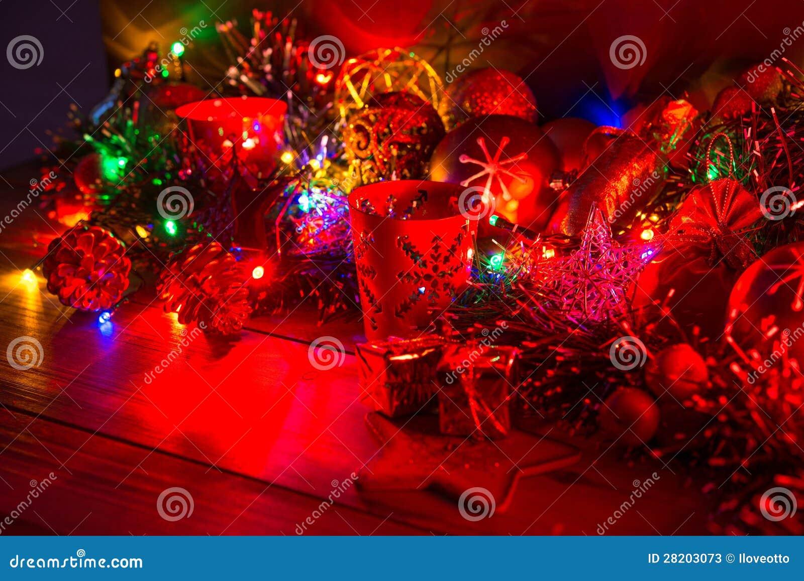 Decoraci n de la navidad con las velas fotos de archivo - Decoracion de navidad con velas ...