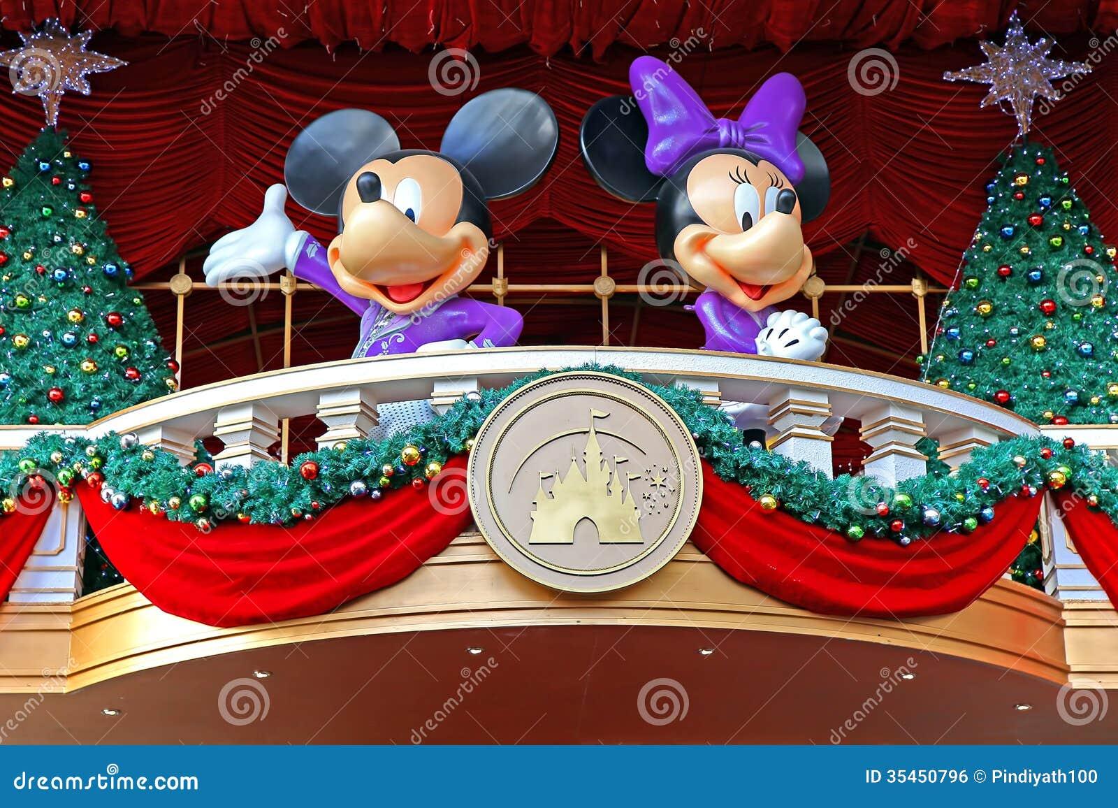 Decoración de la Navidad del ratón de Mickey y de minnie