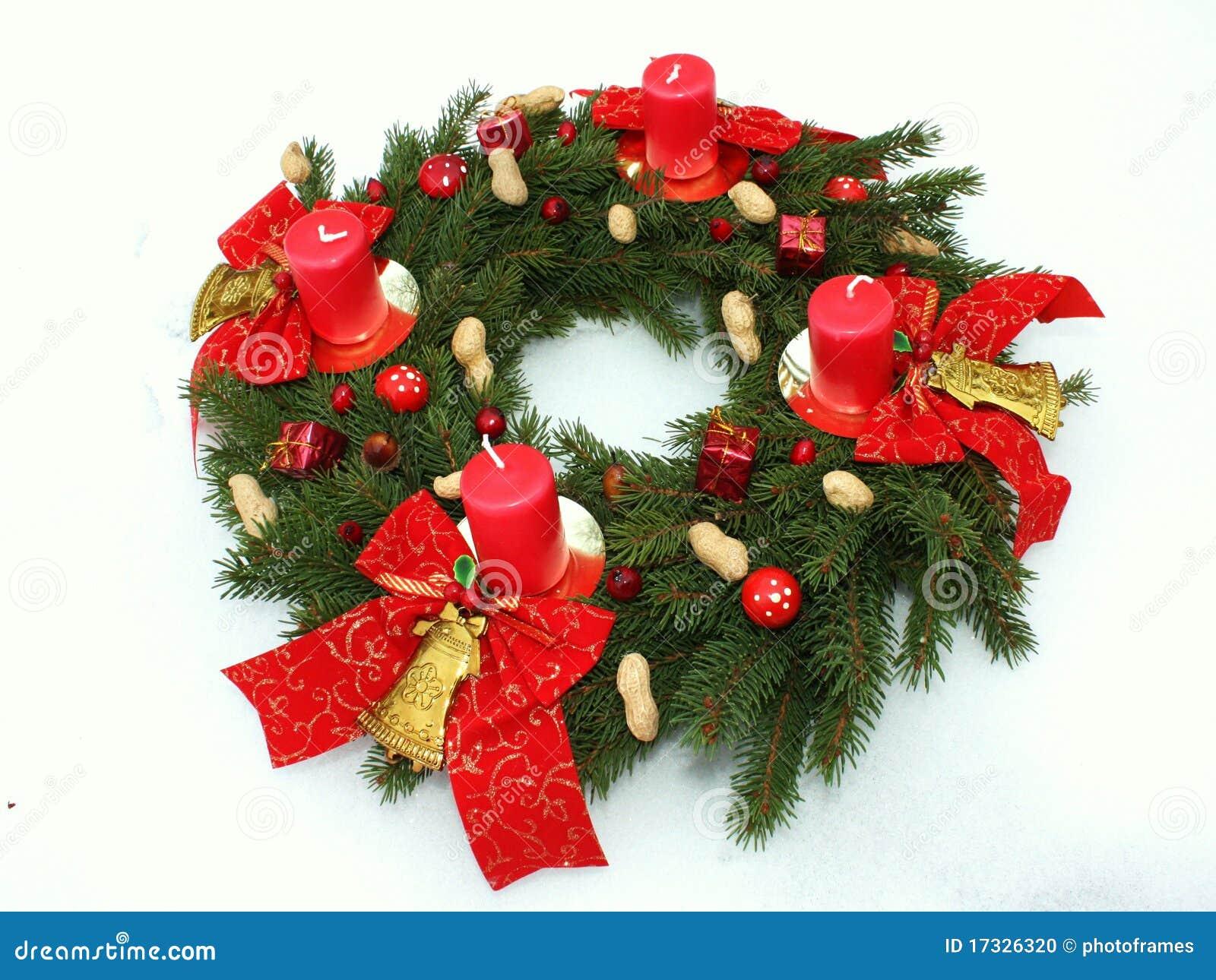 Decoración de la Navidad del wih de la guirnalda del advenimiento