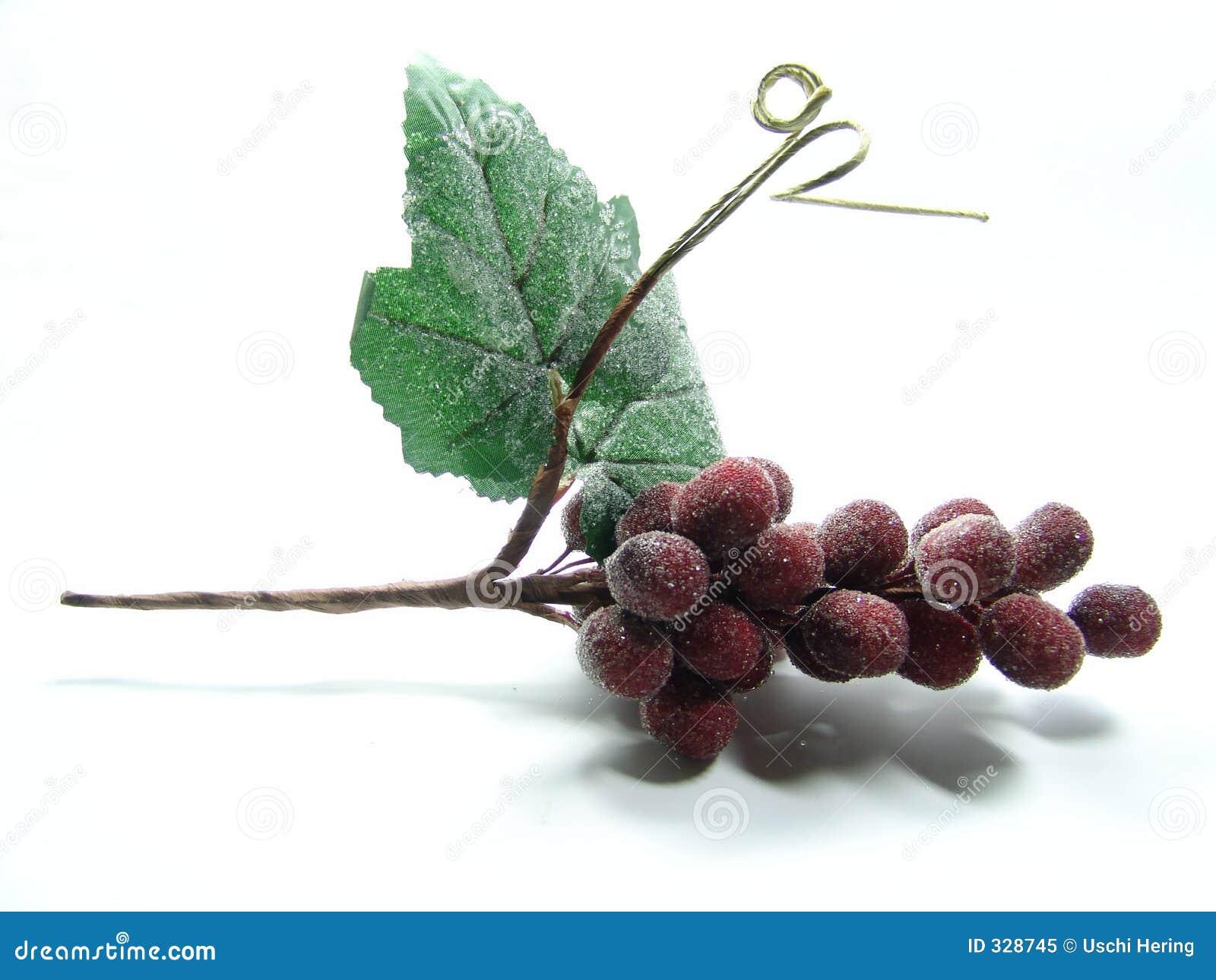 Decoración de la uva roja