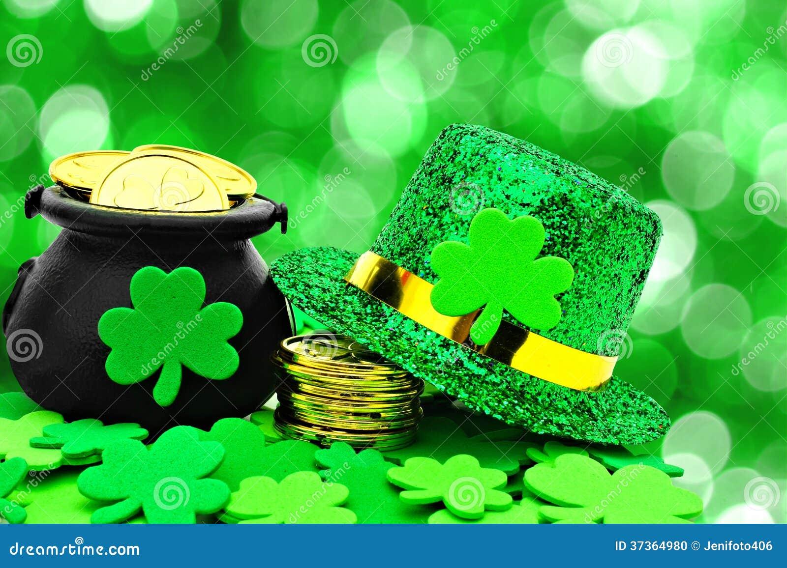 Decoración Del Día Del St Patricks Foto De Archivo Imagen