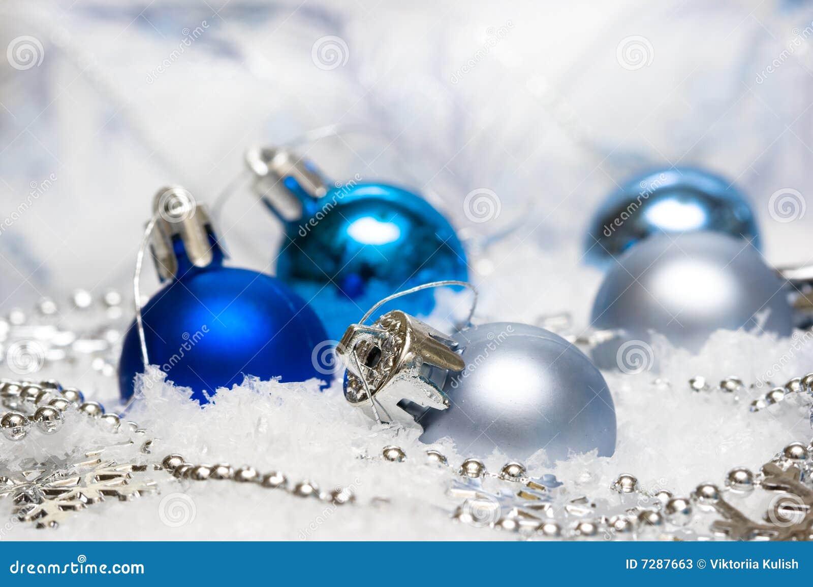 Decoración festiva azul