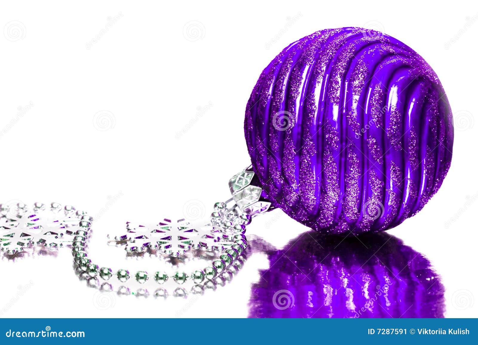 Decoración festiva violeta