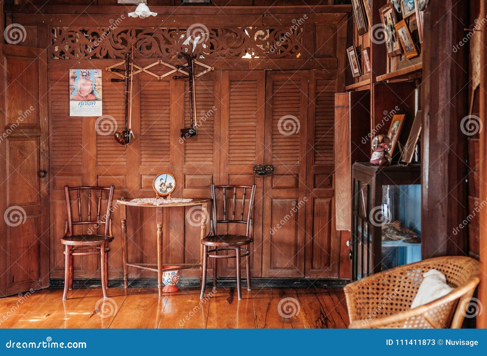 Decoración Interior Del Concepto De La Casa De Campo De