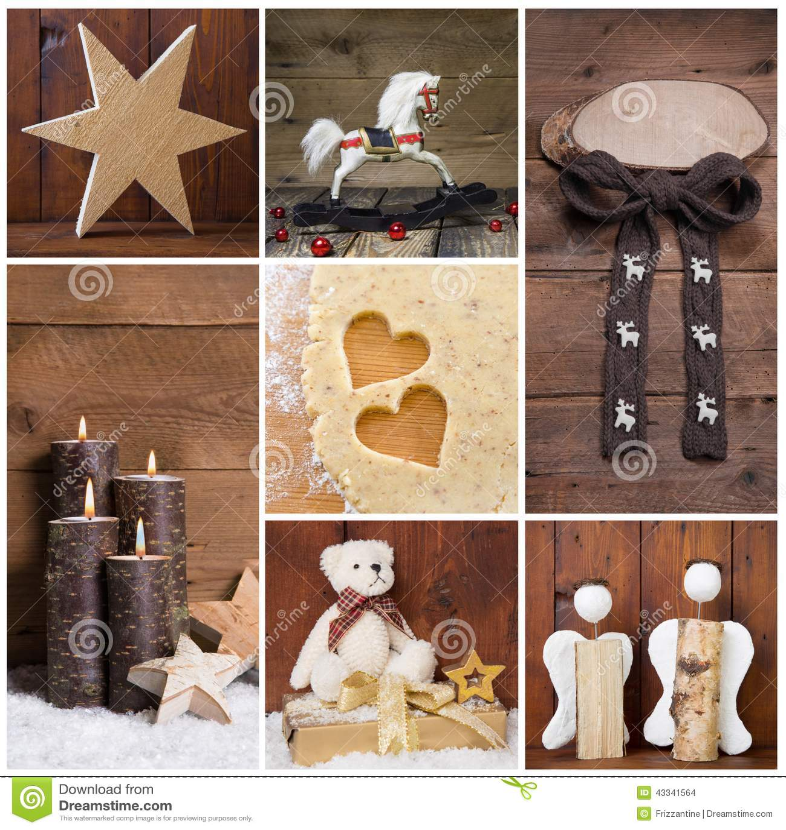 Decoraci n natural de la navidad con madera diversos for Objetos de decoracion
