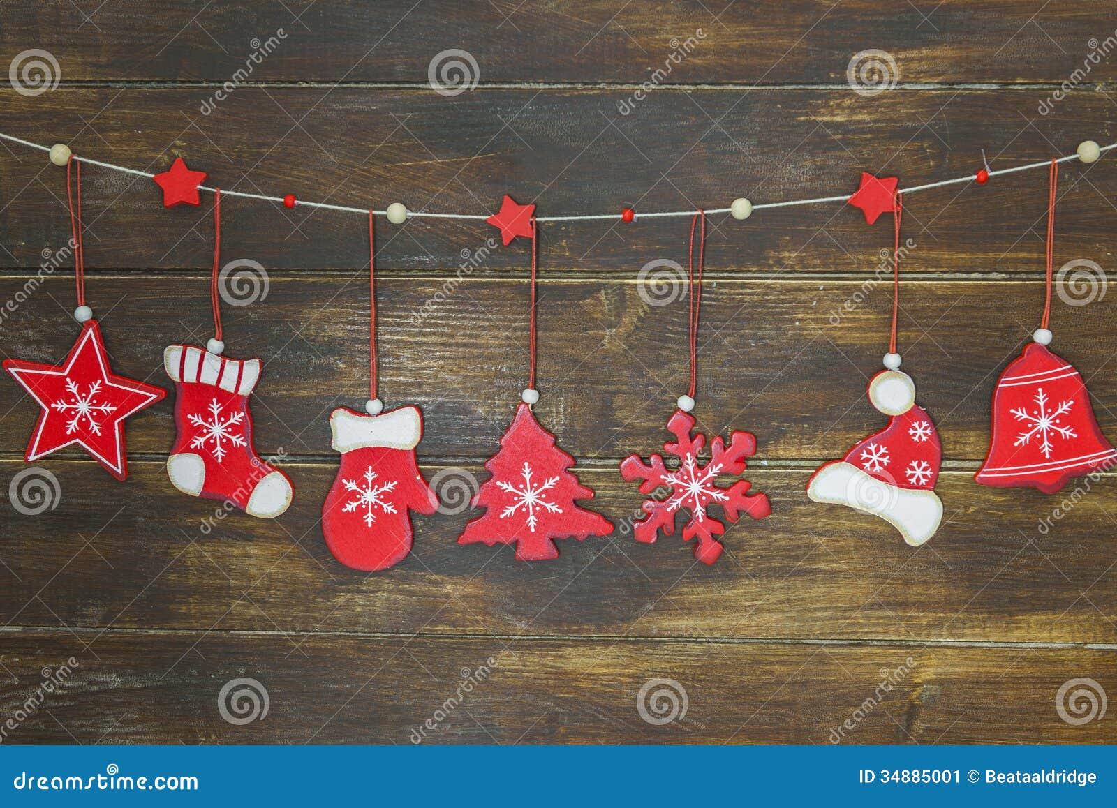 Decoracion Rustica De Navidad ~   Elegante Lamentable De La Navidad Imagen de archivo  Imagen 34885001
