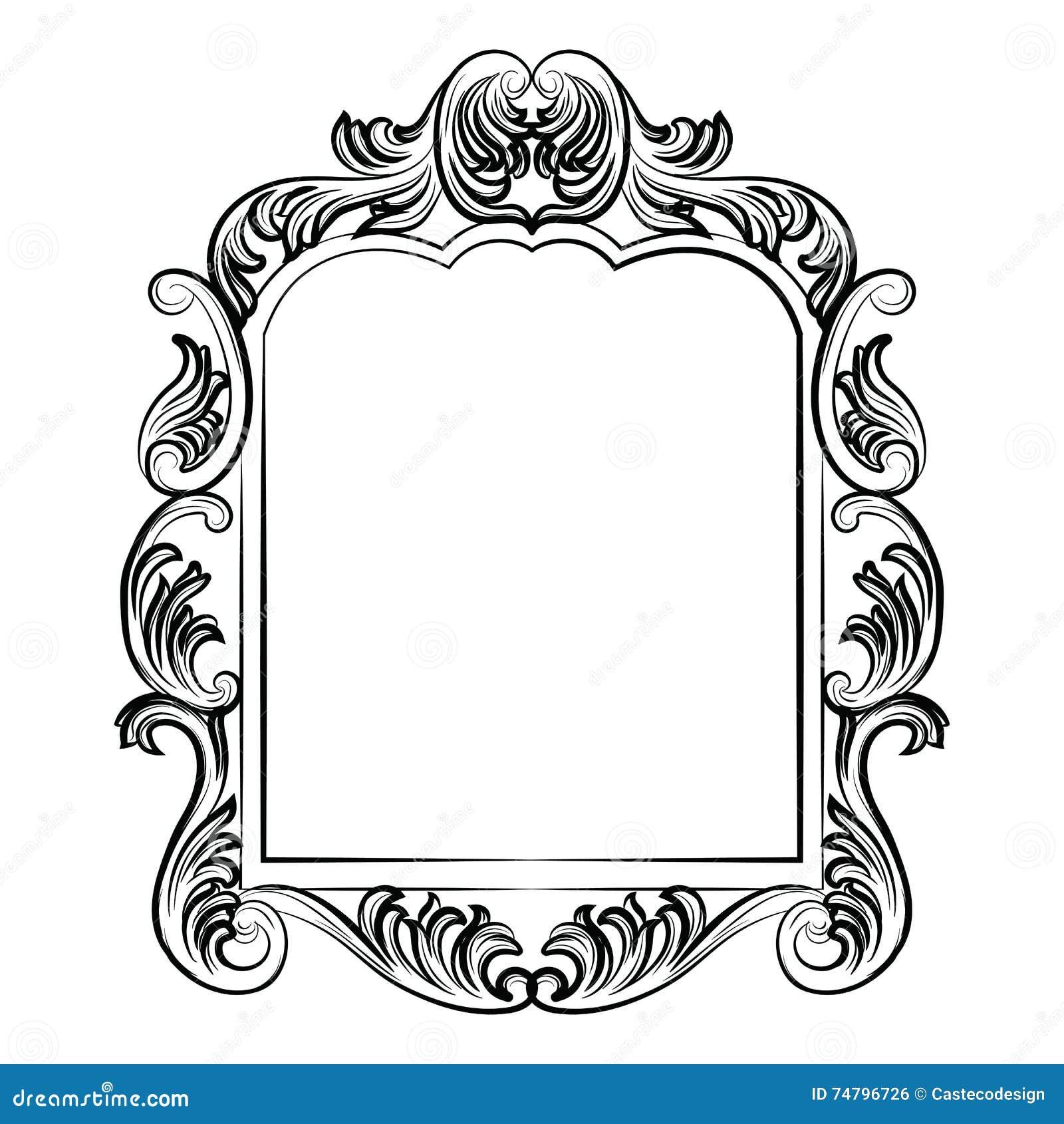 Decoraci n rococ barroca del marco del espejo foto de for Decoracion rococo