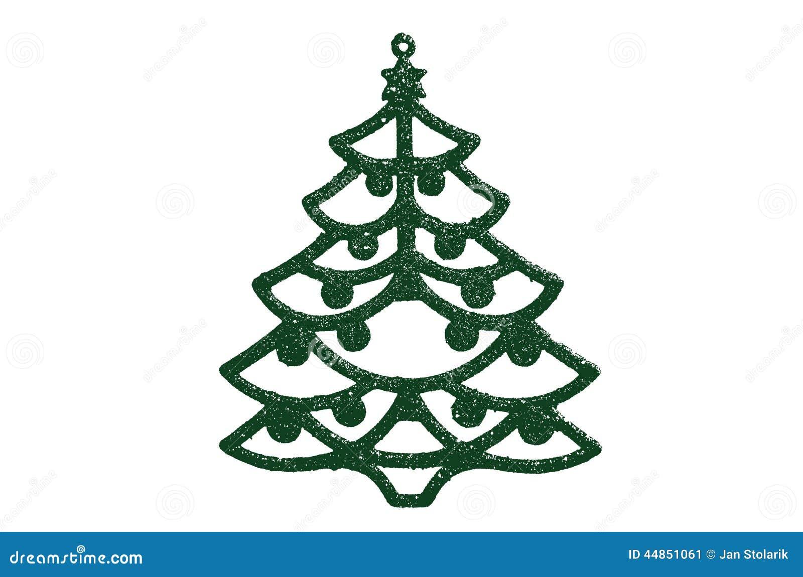 Decoración verde del árbol de navidad