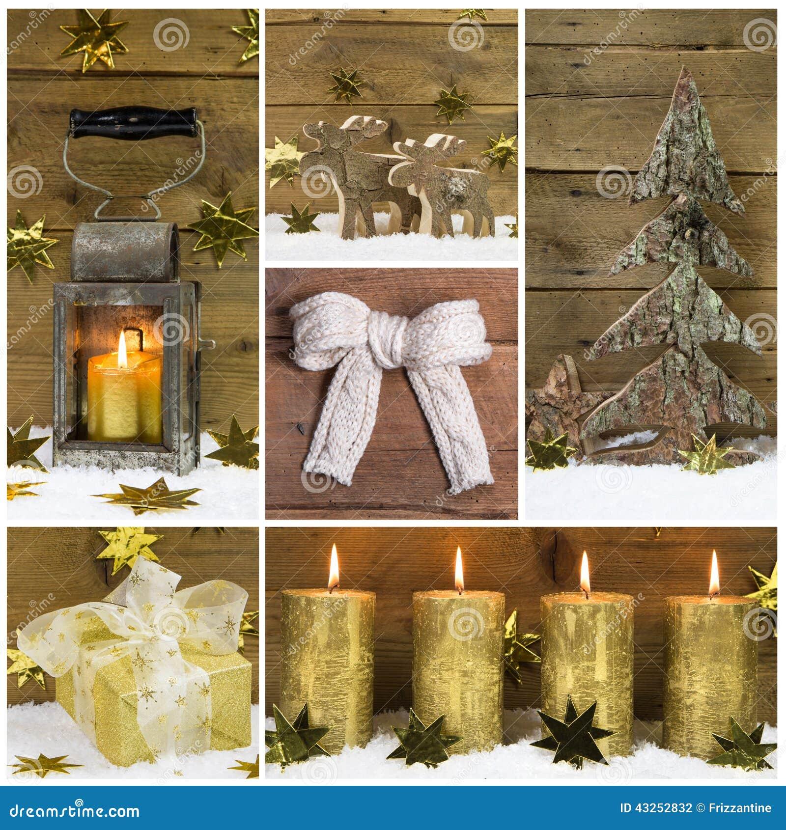Decoraci n natural de la navidad con madera nieve y for Decoracion madera natural